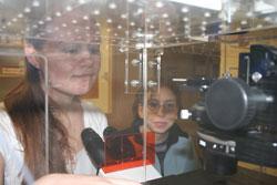 Teresa Peterson in lab