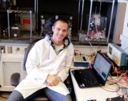 Eric Secrist in lab