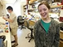 Molly Gasperini in lab