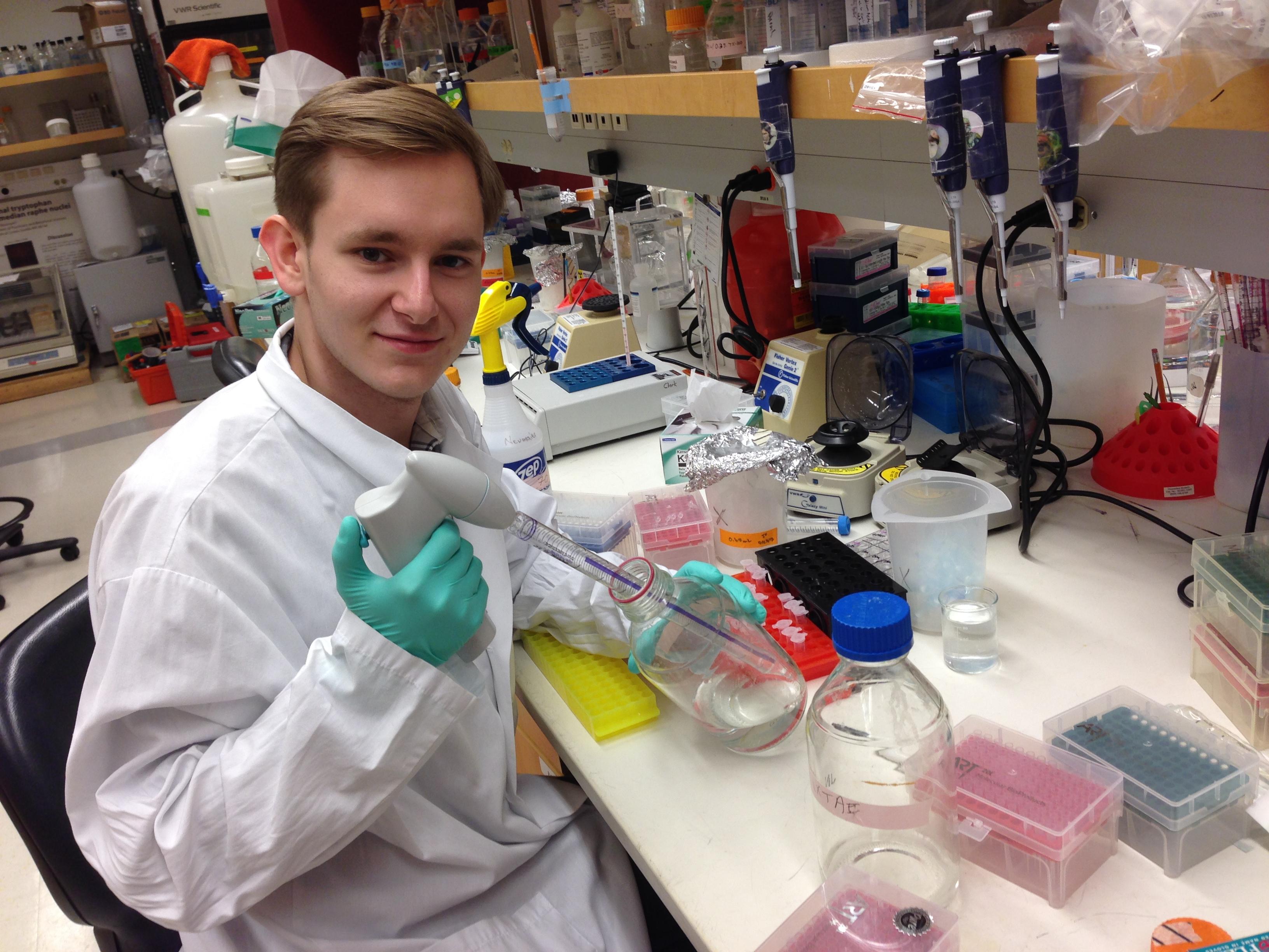 Denis Smirnov in lab