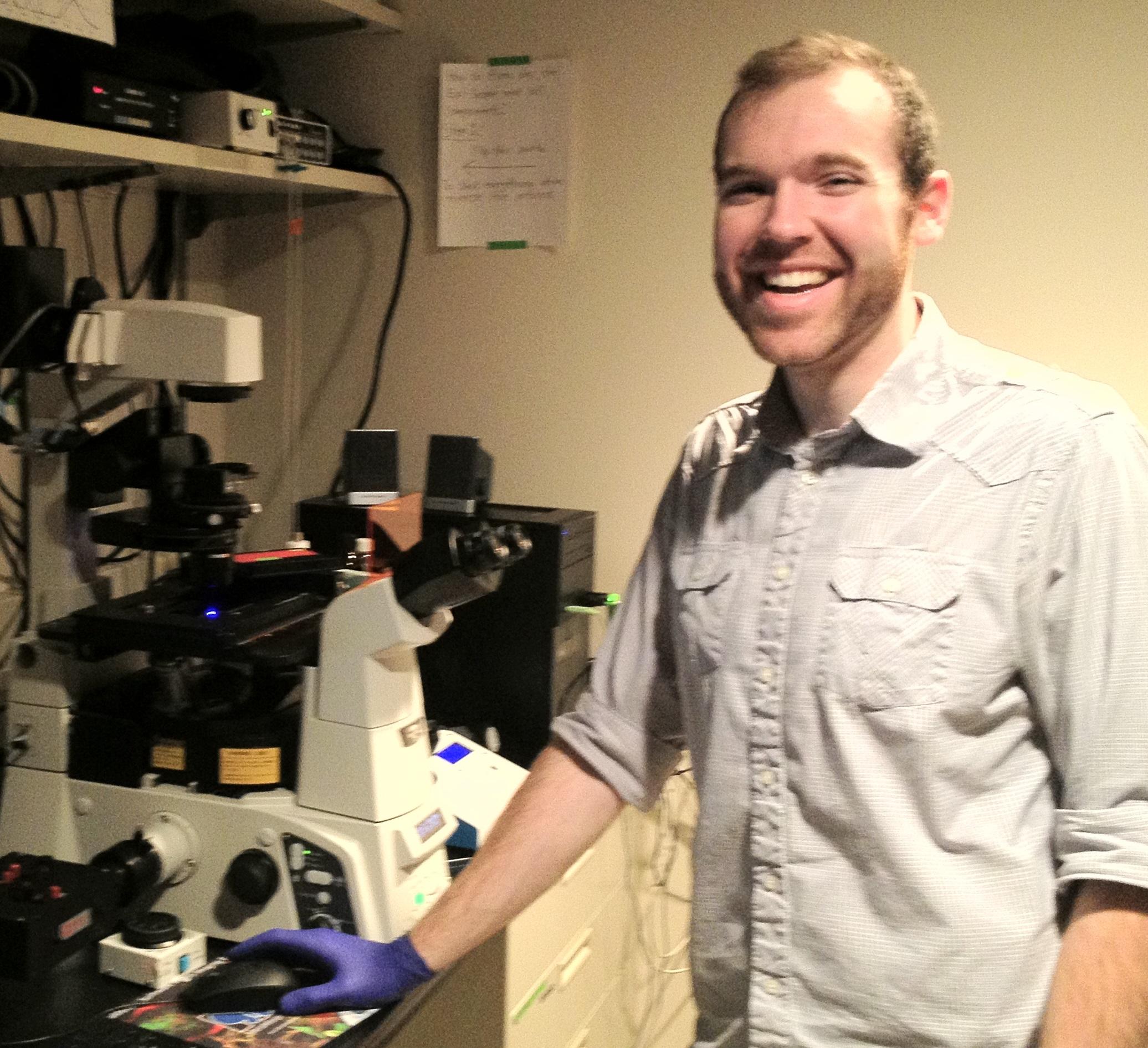Derek Britain in lab