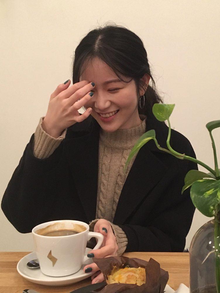Haley Pang with coffee