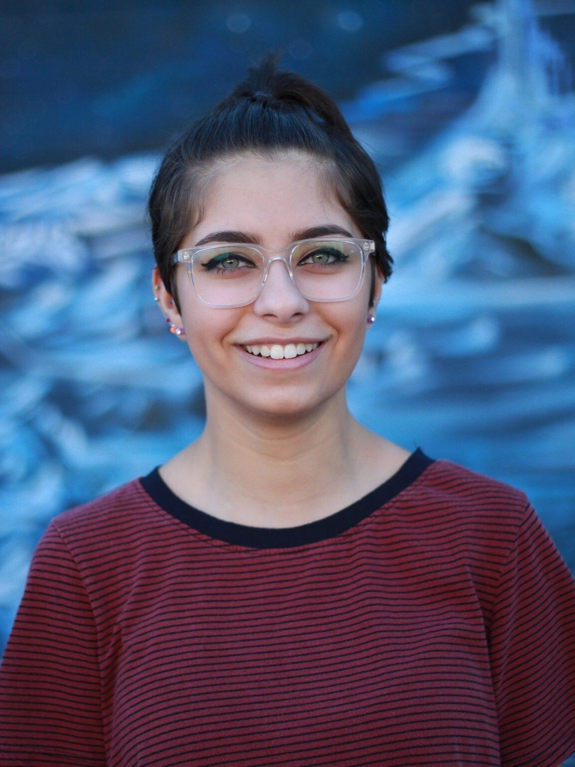 Amirah smiling