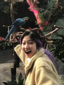 Haley Smiling with a bird