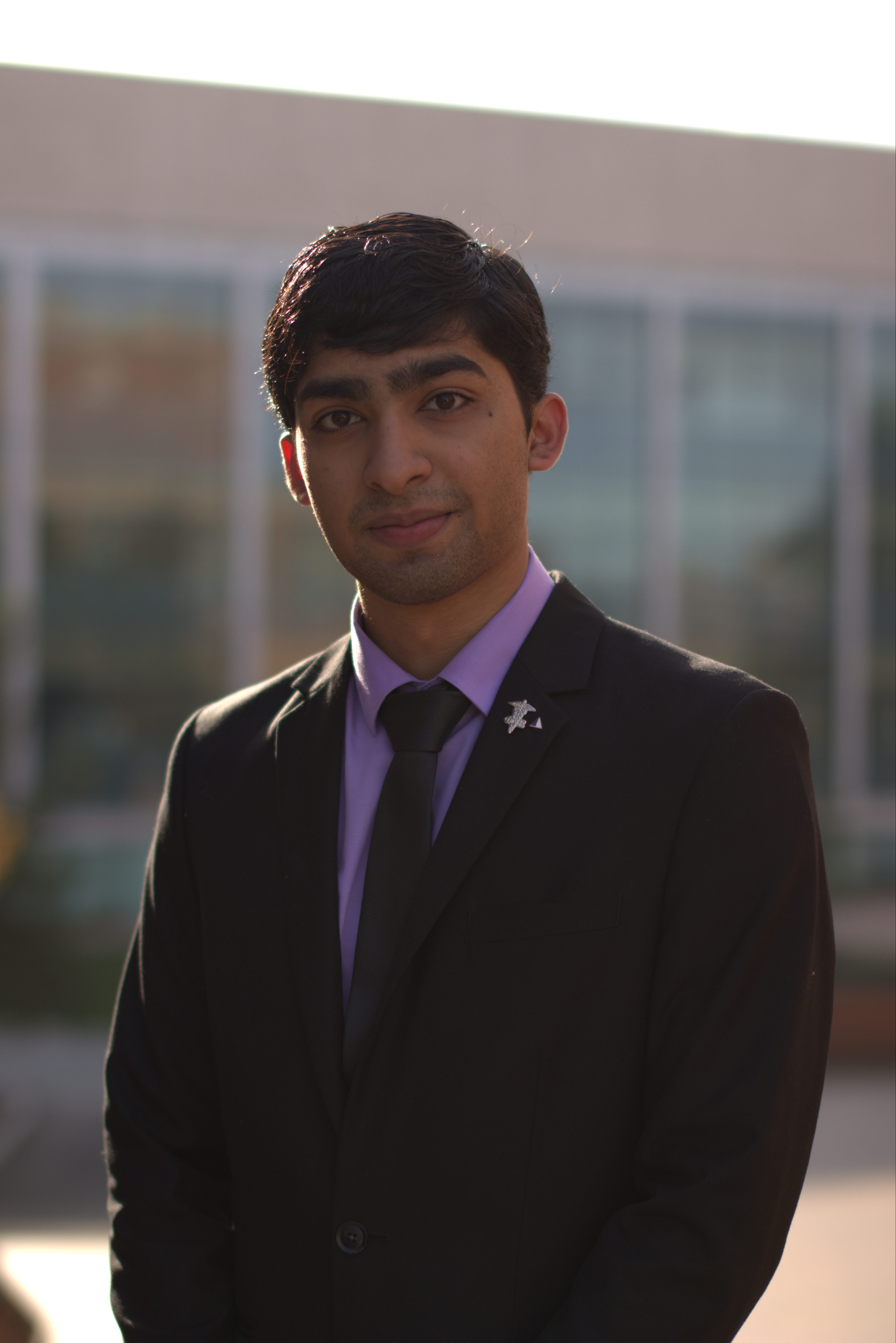Rahul in a suit for the camera