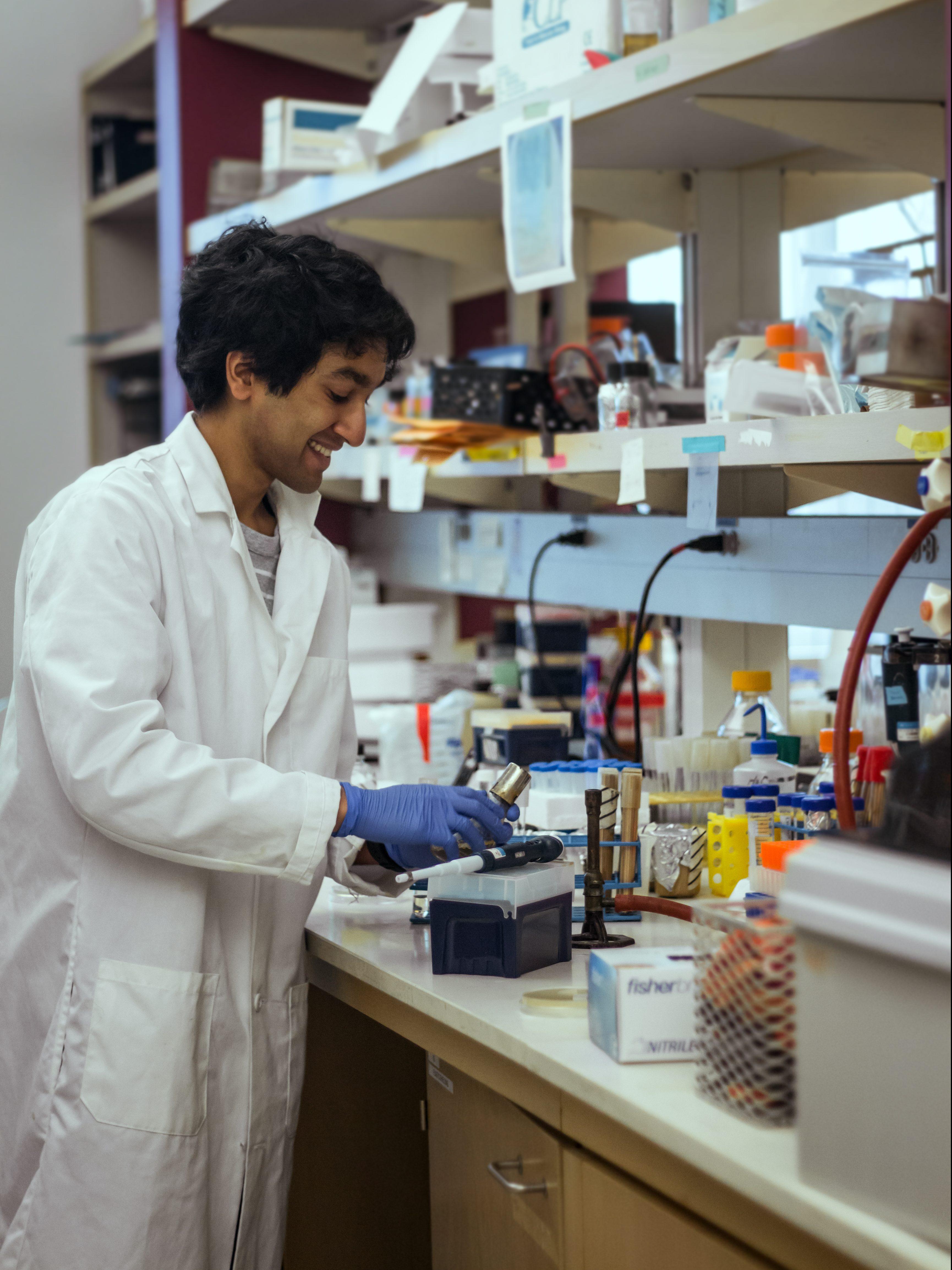 Varun in lab