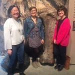 Photo of library staff (Amanda Hornby, Linda Whang, Emilie Vrbancic) standing in a group