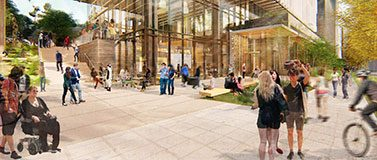An artist rendering of the new Hans Rosling Center for Population Health.The Miller Hull Partnership