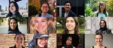 Fulbright Scholars portrait collage