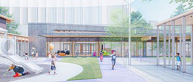 Haring Center courtyard rendering