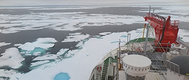 This photo of sea ice on the Wandel Sea north of Greenland was taken Aug. 16, 2020, from the German icebreaker Polarstern, which passed through the area as part of the year-long MOSAiC Expedition. This area used to remain fully covered in ice throughout the year. Satellite images show that Aug. 14, 2020, was a record low sea ice concentration for this region, at 50%.Felix Linhardt/Kiel University