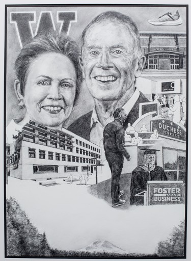Jan and Neal Dempsey drawing
