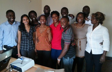 The HOPE team gathers with Saloni Parikh on her last day in Kisumu.
