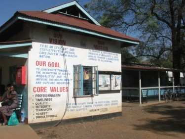 The maternal care clinic at Kisumu District Hospital opens for another day of serving the community.