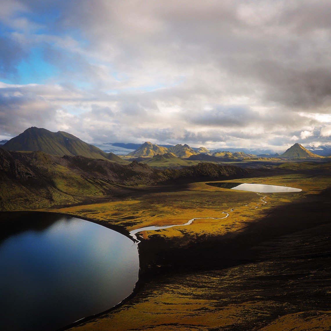 On his way back from Greenland, Markle stopped over in Iceland for a weeklong backpacking trip and snapped this shot of Álftavatn Lake.