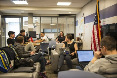 The Office of Student Veteran Life is a space for student veterans to gather, connect, socialize and study.