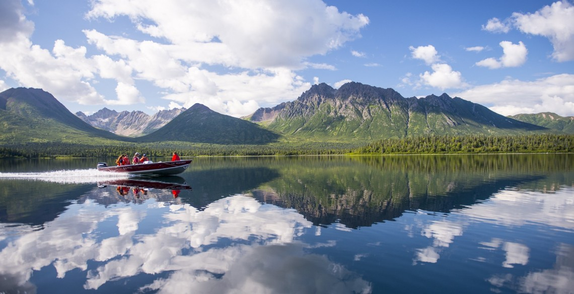 Every day, UW professor Daniel Schindler and his students take a boat from their camp at Lake Nerka to the smaller streams to study sockeye salmon and the ecosystems where they spawn.