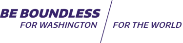 Be Boundless - For Washington, For the World tagline