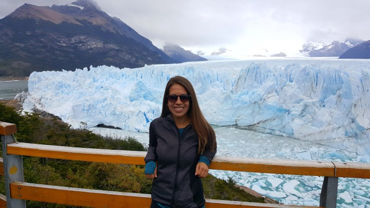 Argentina's Perito Moreno Glacier, one of the most memorable excursions from the six weeks Imsdahl spent in Patagonia, is roughly three miles wide, with an average height of 240 feet above the water.