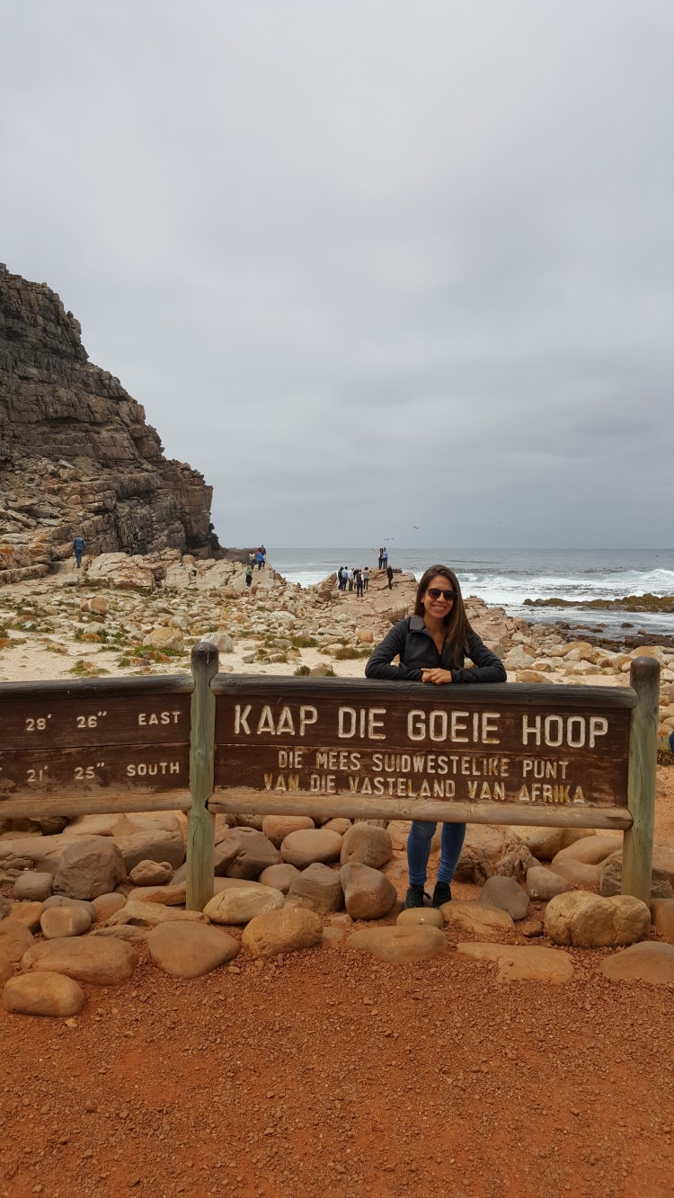 Imsdahl made the trip to South Africa's Cape of Good Hope, on the tip of the southernmost region of the African continent.