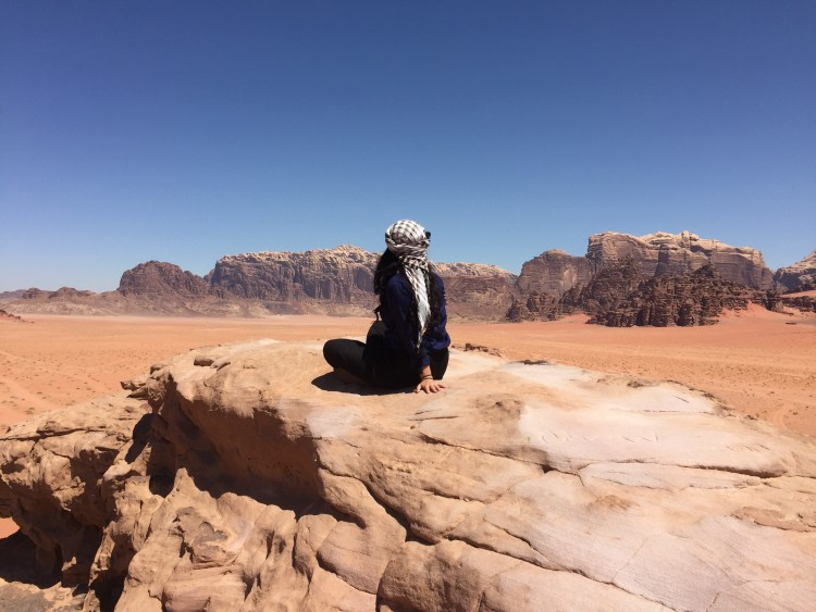 In Wadi Rum, Jordan, Amin spent her days cooking zarb — Bedouin barbecue — as well as driving in the dunes, climbing boulders and stargazing.
