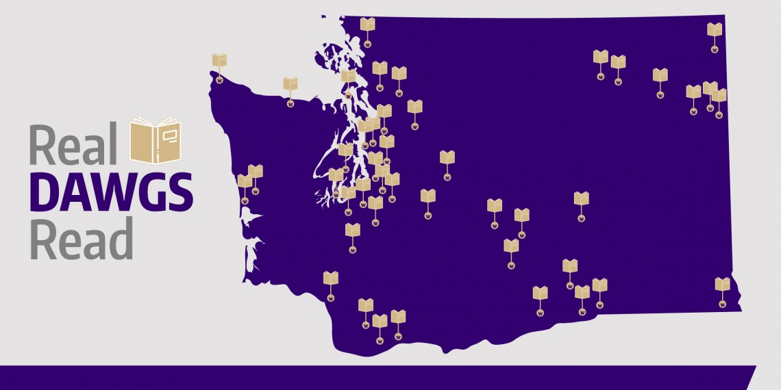Real Dawgs Read program locations in the state of Washington.