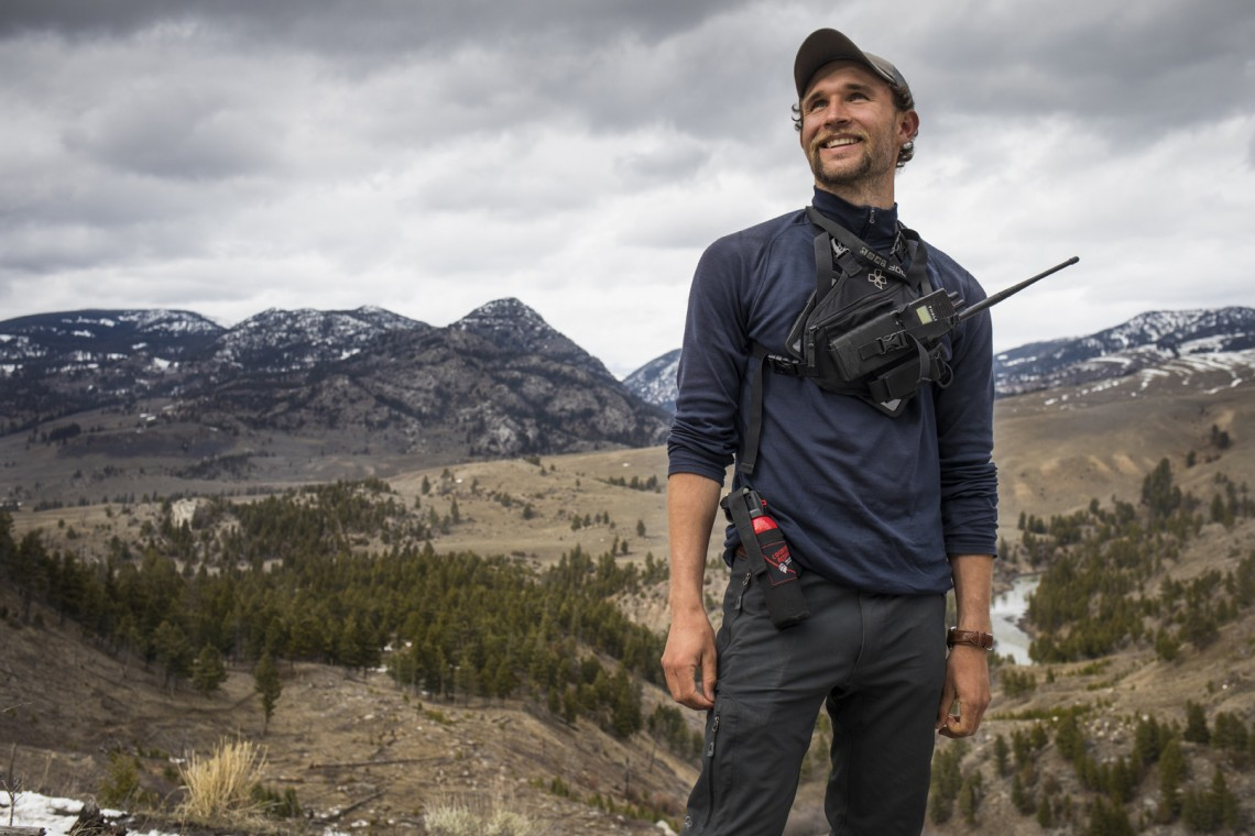 Connor Meyer, '16, is a wildlife technician in Yellowstone National Park who studies cougars.
