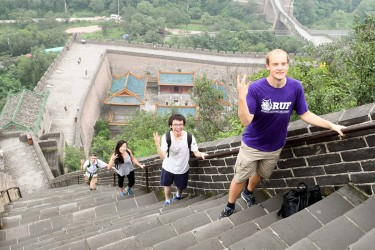 Trekking on the Great Wall with Husky Presidential Ambassadors