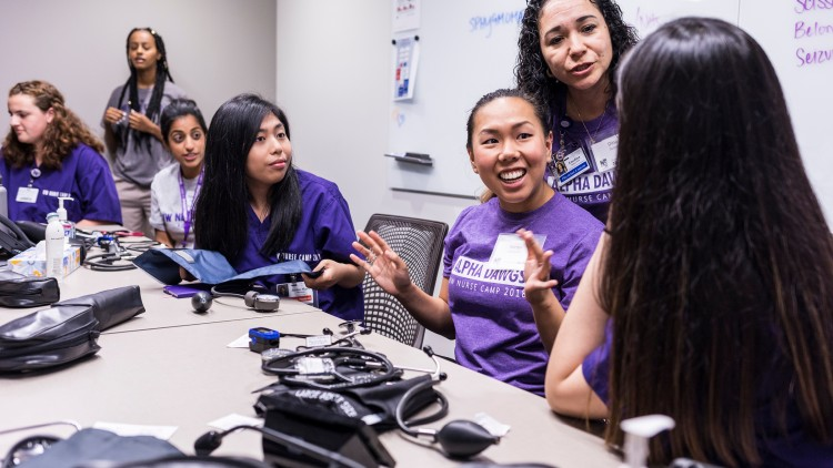 Sukrachan served as a volunteer coordinator at UW Nurse Camp for two years.