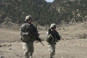 Peppler on patrol in Afghanistan