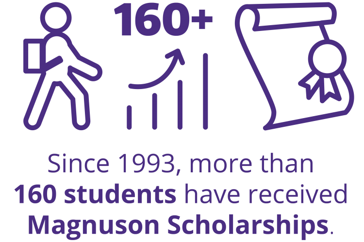 Since 1993, more than 160 students have received Magnuson scholarships.