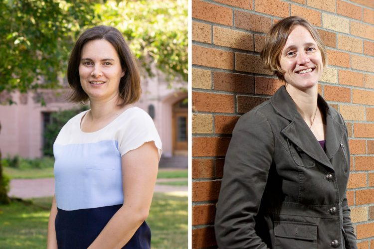 Emma Spiro, assistant professor at the Information School, and Kate Starbird, associate professor of human centered design and engineering