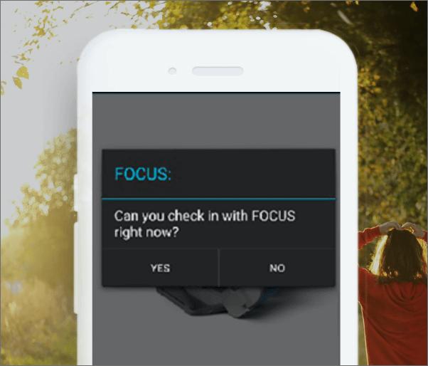 Focus app view,
