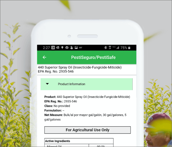 PestiSafe app view,