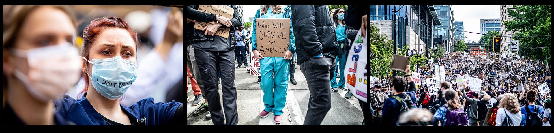 Health care march photos