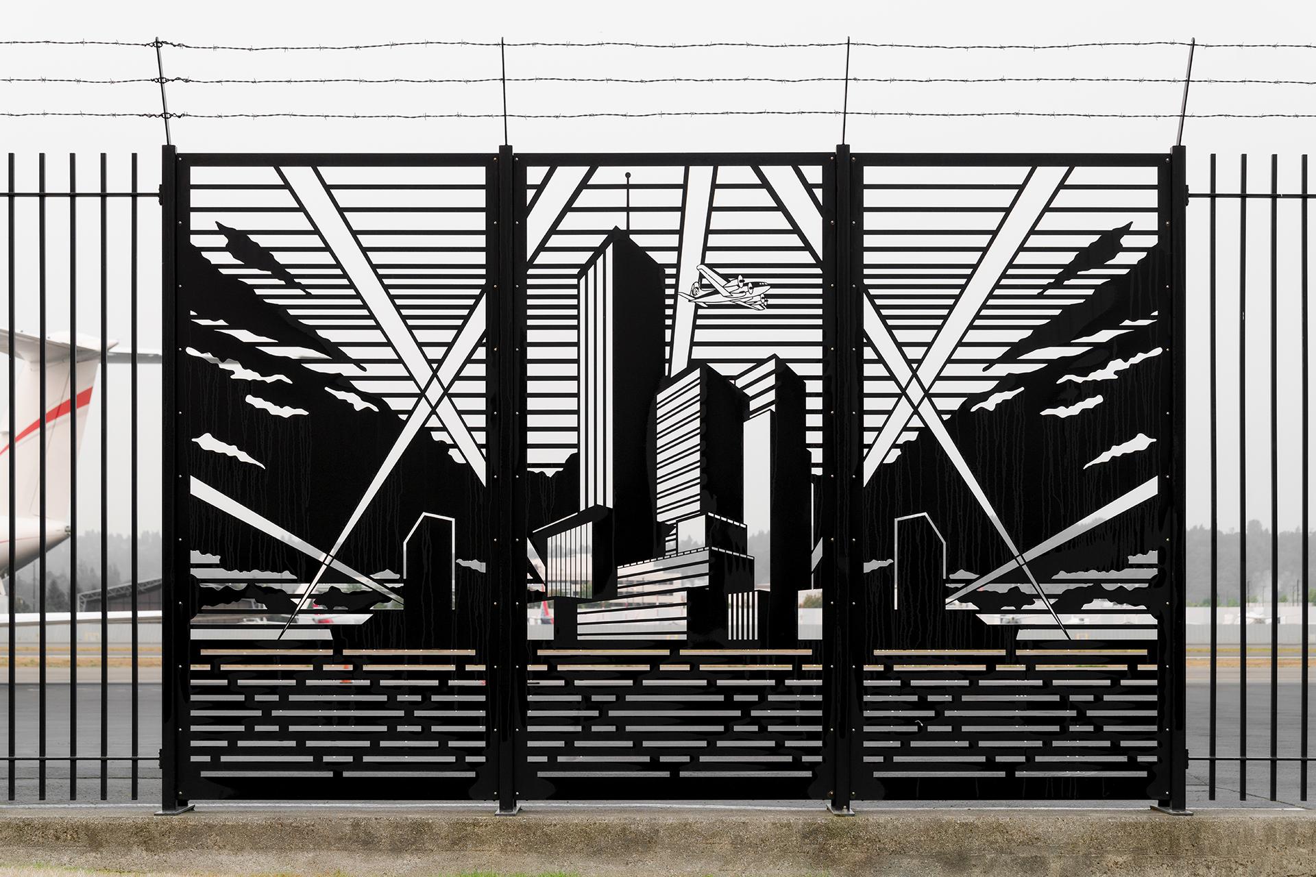 """Peter Reiquam, """"Metropolis Fence"""","""