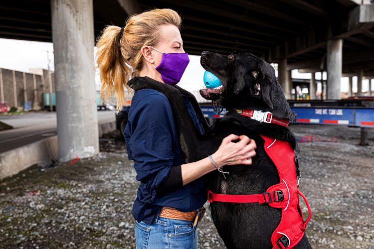 Dog Jasper and handler Julianne Ubigau