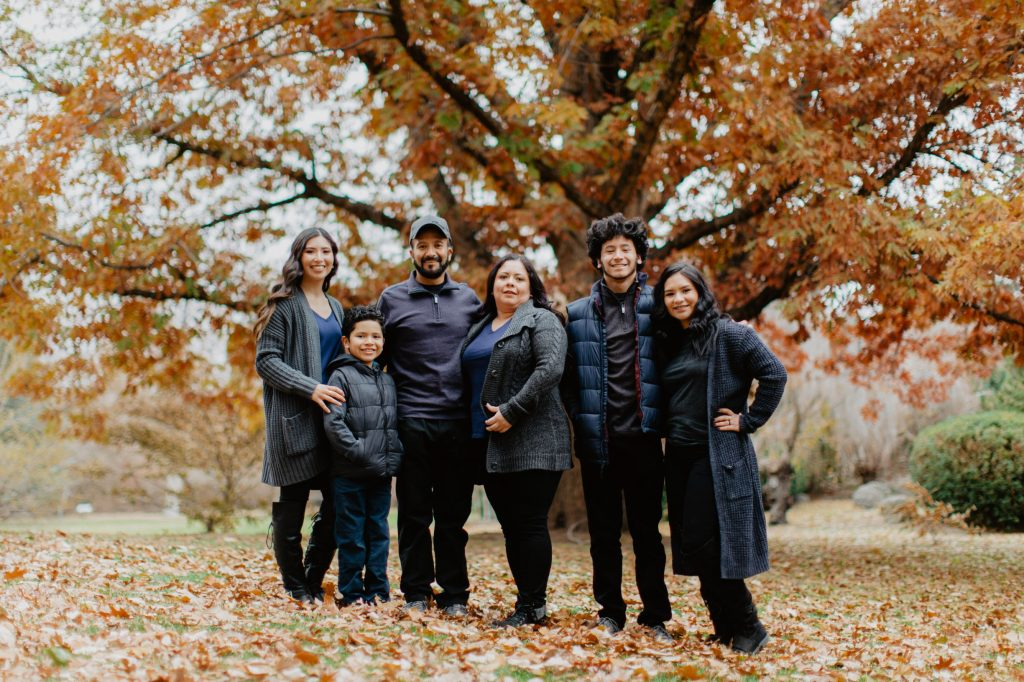 Jessica Moreno and her family