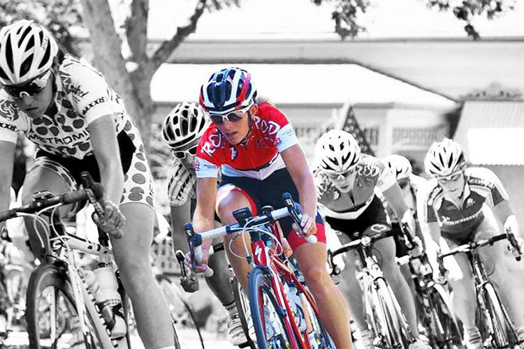 Johanna Trueblood in cycling race