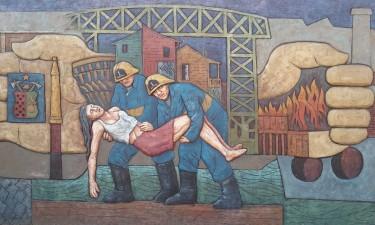 A mural at La Boca that caught Kiona's eye.