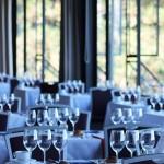 UW Club tables set for dinner