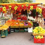 Market stall, Northern Italy