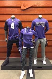 Huskies apparel at the Nike company store in Beaverton.