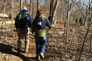 Day hikes—such as this one at Billy Goat Trail, MD—are one of the many activities organized by the D.C. Dawgs alumni chapter.