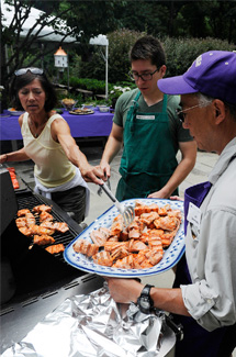 Salmon BBQs are an annual tradition for D.C. area Huskies.