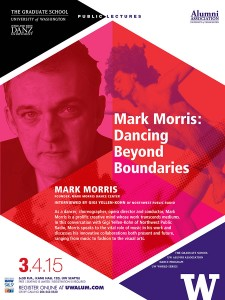 Poster from the lecture, Mark Morris: Dancing Beyond Boundaries.
