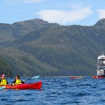 Kayakers in Alaska