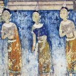Detail from a mural in the Royal Palace in Phnom Penh.