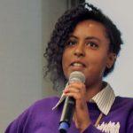 Dream Project member addressing Gates Foundation