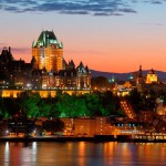 Chateau Frontenac and Quebec City at night